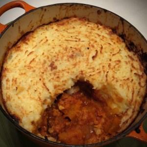 Spiced Lentil & squash bake