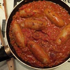 Sausage & lentil one-pot
