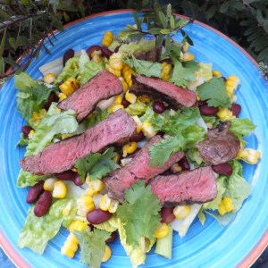 Mexican steak salad