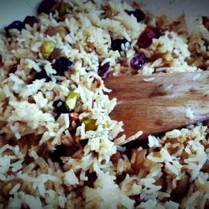 Jewelled rice pilaf