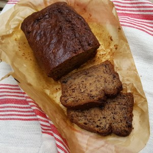 Banana and wheat bisks loaf