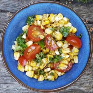 Grilled corn relish