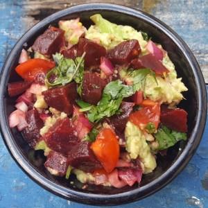 Beet guacamole