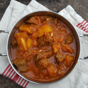 Spiced beef and squash stew