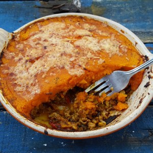 Shepherd's Pie with squash topping