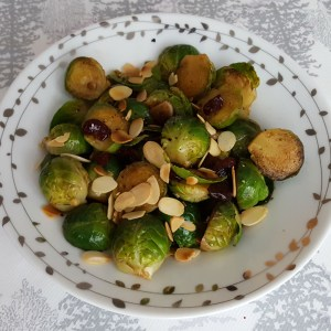 Sprouts with cranberry and almond