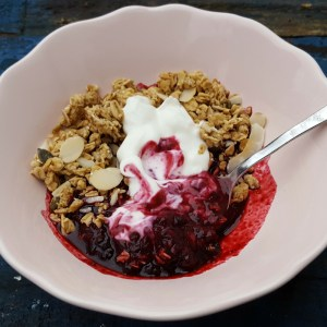 Berry crumble cheat