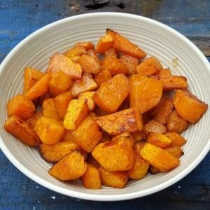 Maple and cinnamon roasted squash