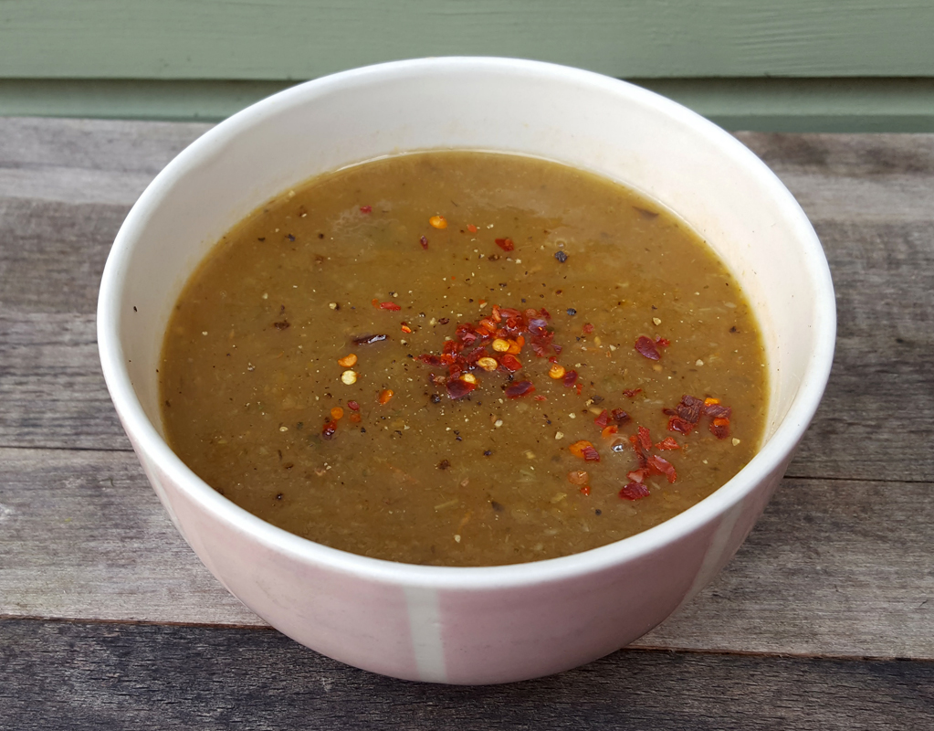 Aubergine Courgette and Carrot Soup