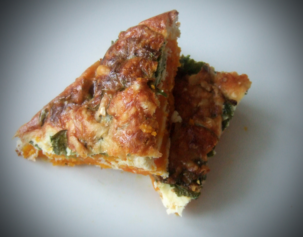 Baked squash & spinach frittata