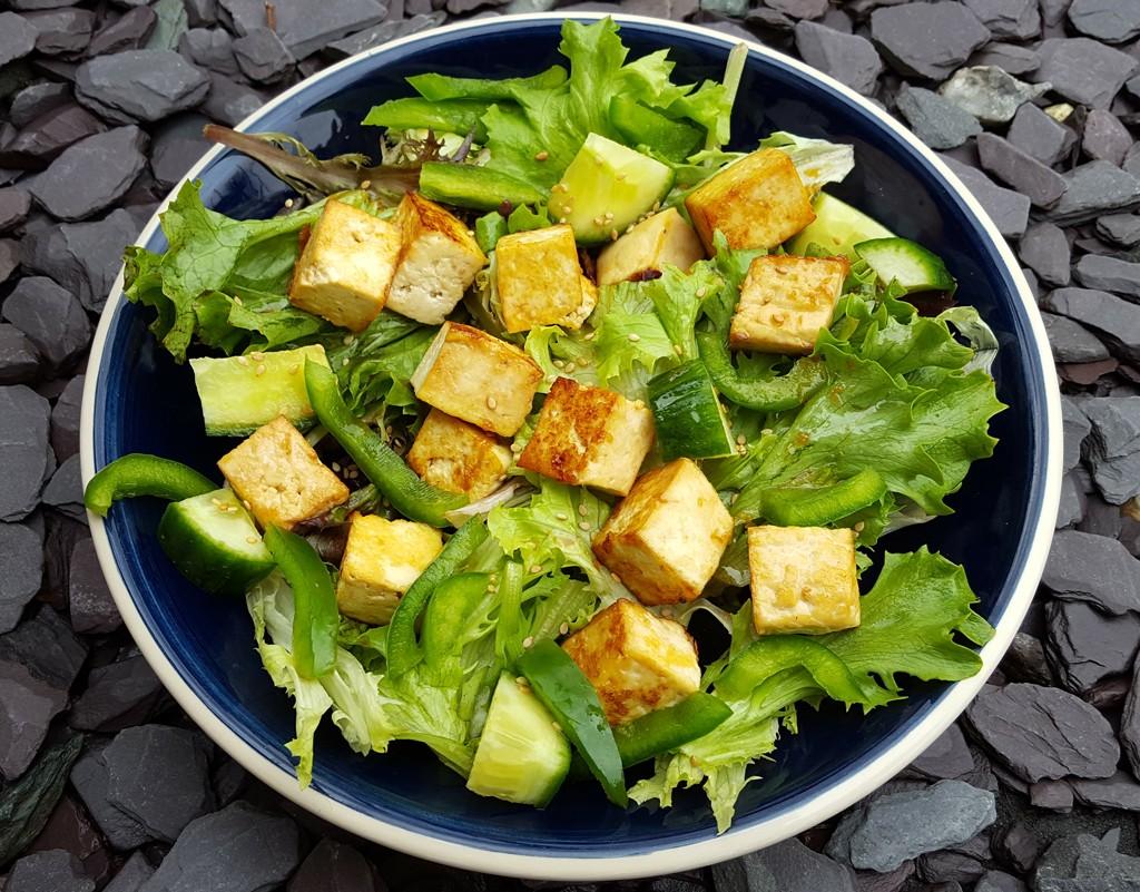 Asian-style tofu salad