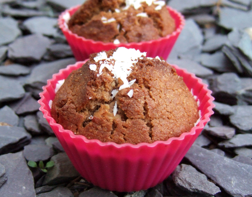 Coconut and chocolate muffin