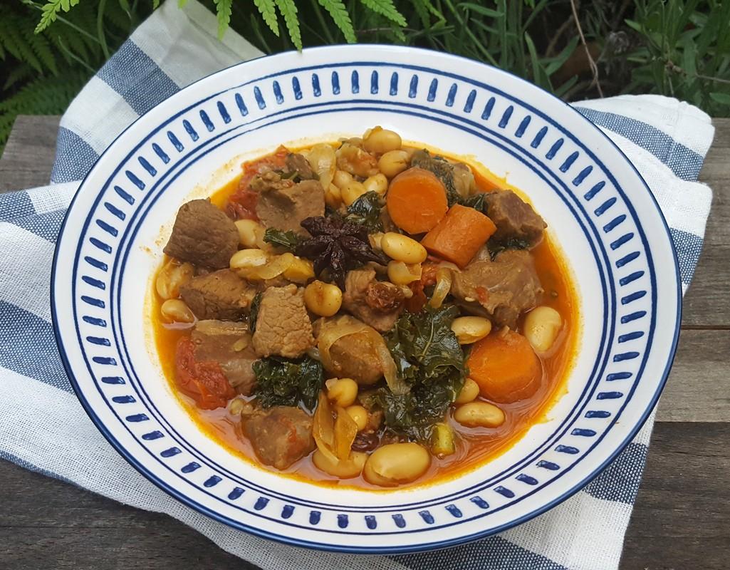 Spiced lamb & bean stew