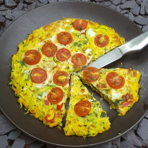 Courgette and corn frittata