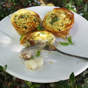 Egg and sausage muffins