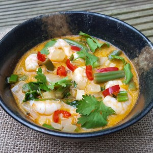Prawn and green beans curry