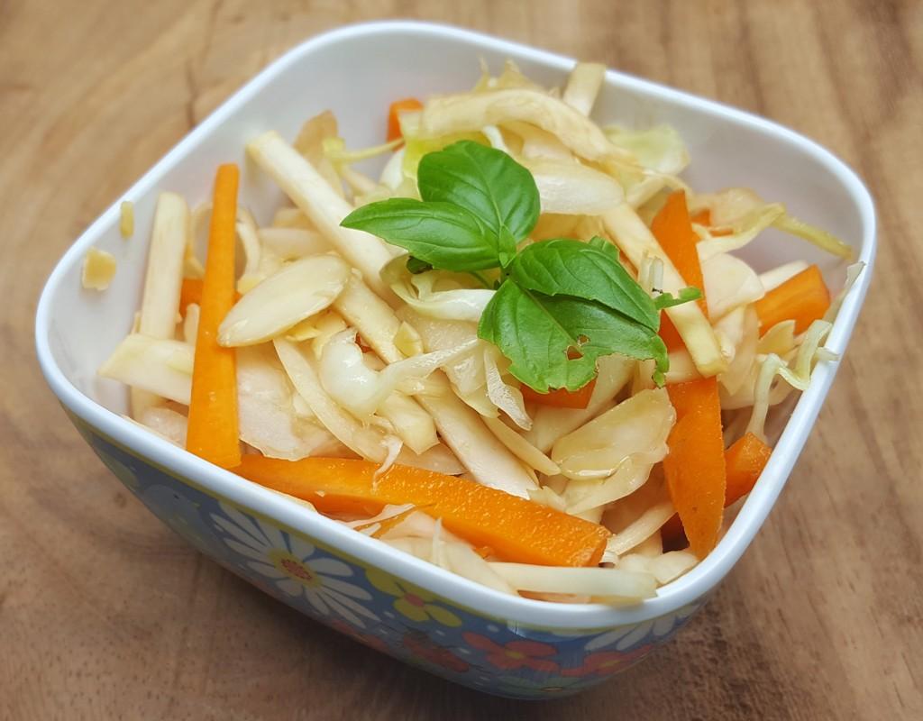 Balsamic celeriac slaw
