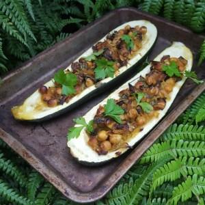 Mushroom-Stuffed Courgette