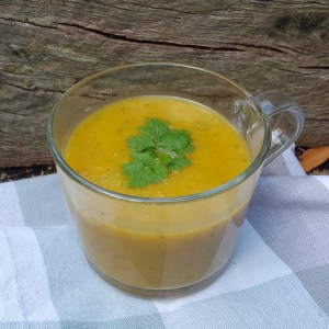 Parsnip, carrot and courgette soup