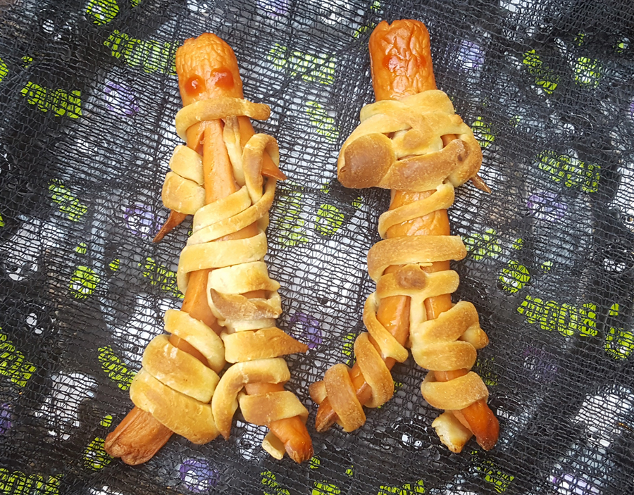 Mummy Wrapped Hot dogs