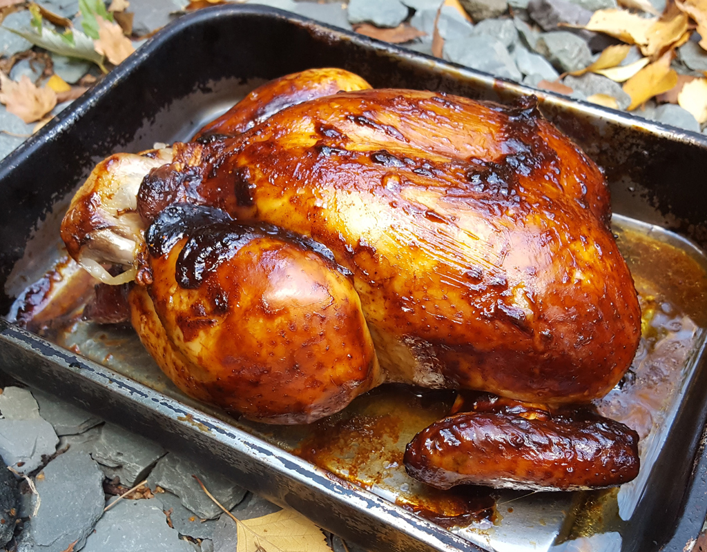 Sweet and Sticky Roast Chicken
