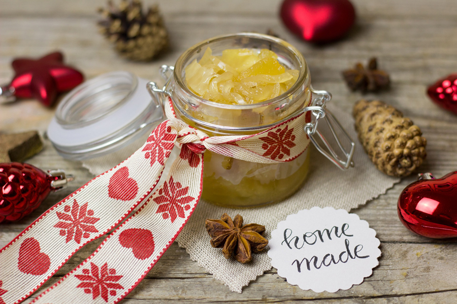 Homemade Christmas preserves