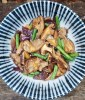 Stir-fried Shiitake mushrooms and green beans