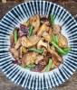 Stir-fried Shiitake mushrooms and green beans
