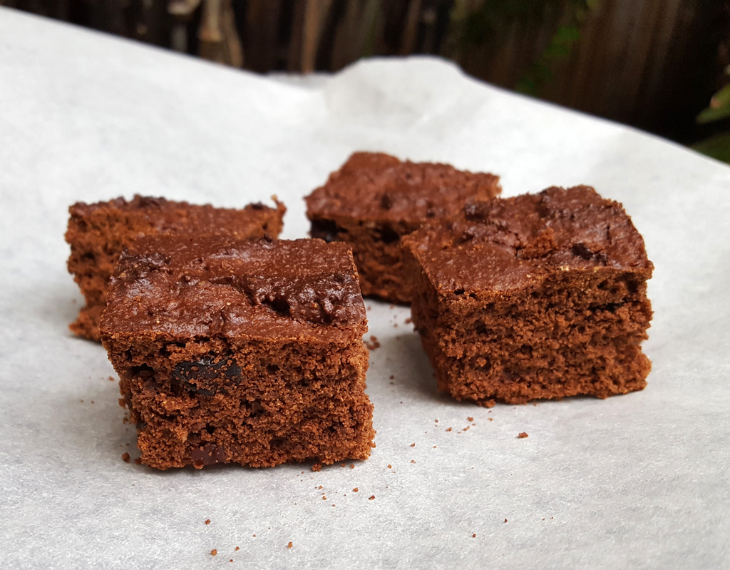 Orange and cranberry brownies