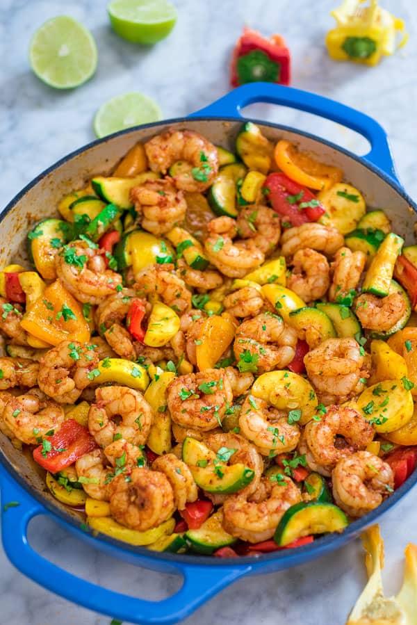 Shrimp & Vegetable Skillet