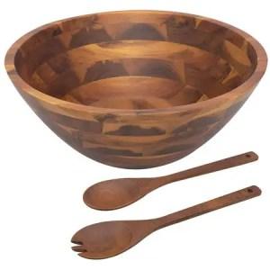Acacia Wooden 3-Piece Salad Bowl by AIDEA