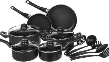 AmazonBasics 15-Piece Non-Stick Cookware Set Review