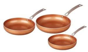 CONCORD 3 Piece Best Ceramic Pan Copper Coated