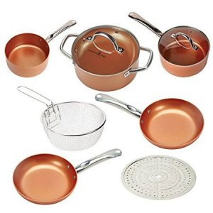 Copper Chef Cookware 9-Pc. Round Pan Set