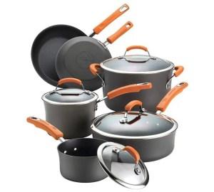 Rachael Ray Hard-Anodized Nonstick 10-Piece Cookware Set