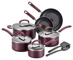 T-fal B130SC Color Luxe Hard Titanium Cookware Set