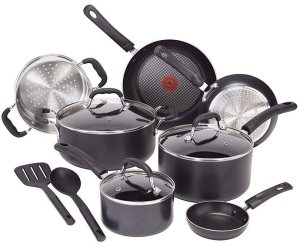 T-fal C515SC Professional Nonstick Cookware Pots and Pans Set