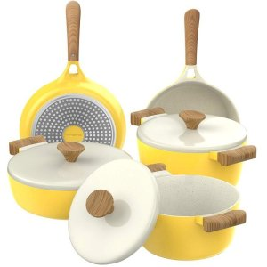 Vremi 8 Piece Ceramic Nonstick Cookware Set