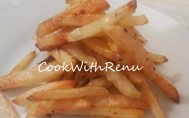 Baked French Fries (with 1 tablespoon of oil)