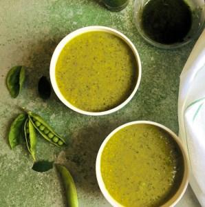 Pea Mint Basil Soup - Nourishing Winter Soup