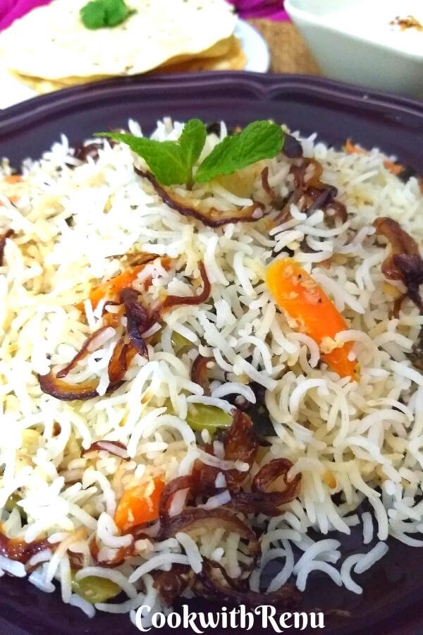 Awadhi Vegetable Biryani