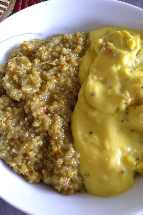 Bajre ka Bhat (Pearl millet one pot meal)