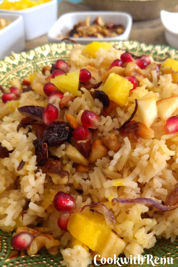 Kashmiri Pulao - with fresh fruits and nuts