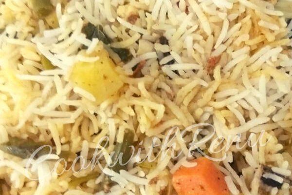 Simple Vegetable Biryani (No onion No Garlic)