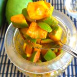 4 ingredient Instant Raw Mango Pickle without oil