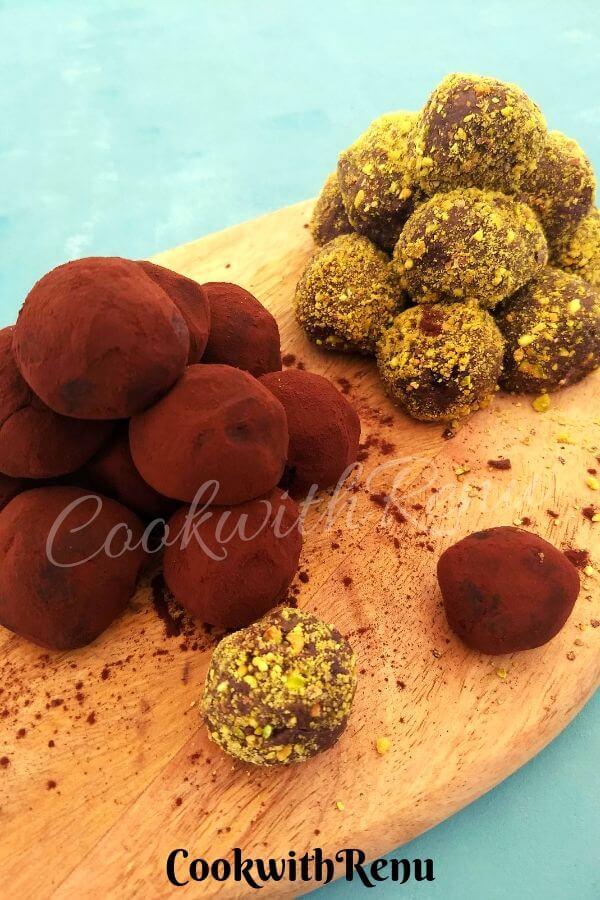 5 Ingredient Mint Chocolate Truffles