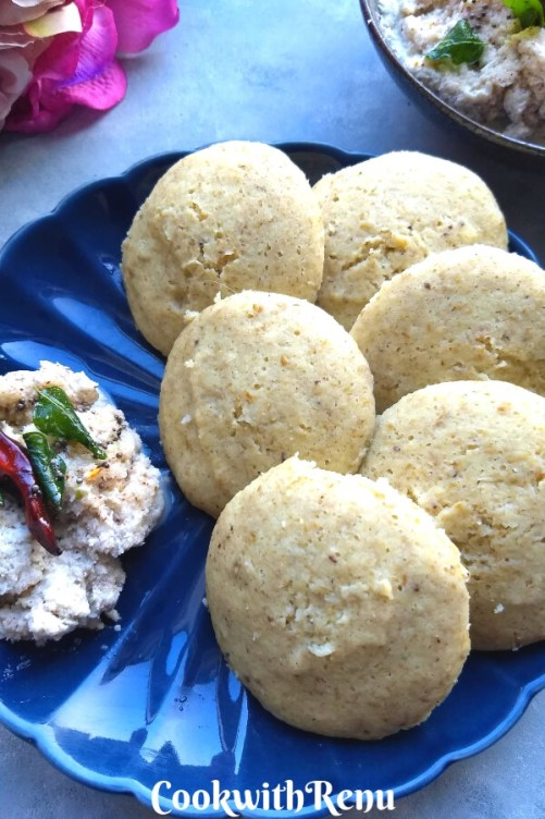 Split Green Moong Dal Idli | No Rice Idli
