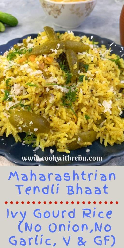 Maharashtrian Tendli bhaat is a traditional no onion no garlic masale bhaat or a one pot meal, typically made during gatherings or special occasions.
