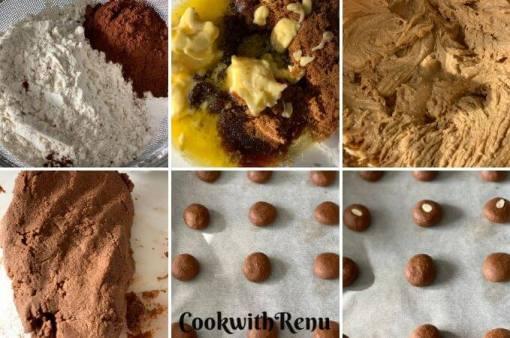Making of Eggless Jowar Chocolate Cookies