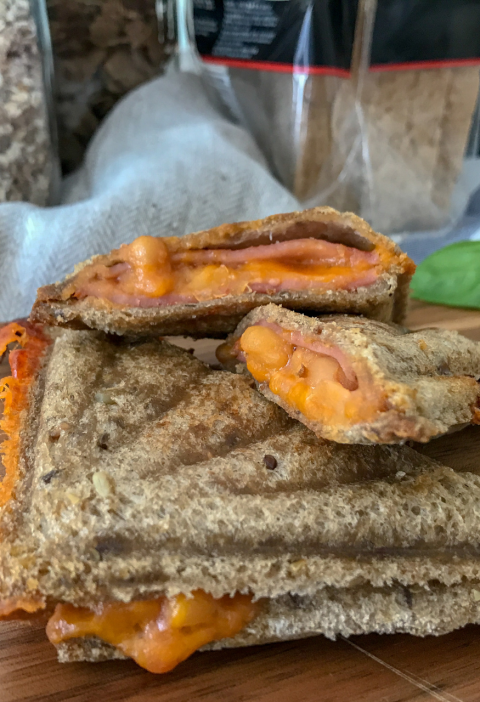 Baked Beans Ham Toasties Recipe